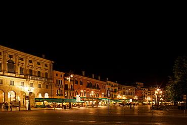 Bra` square by night,  Verona near Arena of Verona, Veneto, Italy, Europe