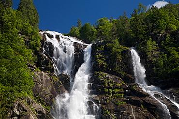 Nardis waterfall at Genova valley, Natural Park Adamello Brenta, Rendena, Giudicarie, Trentino, Italy, Europe