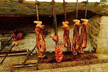 Baby pork skewer at Hotel Su Gologone, Oliena, Sardinia, Italy