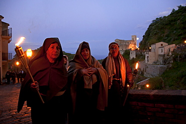 Savoca village, Easter traditional feast, Sicily, Italy, Europe