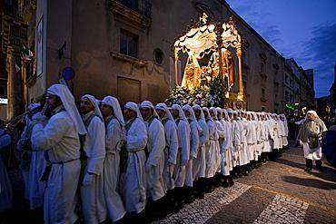 San Giuseppe religious procession, Enna, Sicily, Italy, Europe