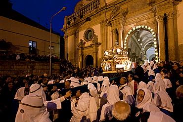 Leonforte, Holy friday procession, Sicily, Italy, Europe