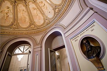 Foyer, Massimo Bellini theatre, Catania, Sicily, italy, Europe