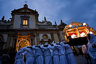 Easter procession, Leonforte, Sicily, Italy, Europe