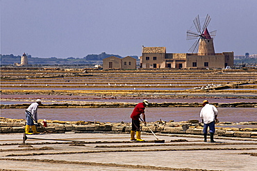 Ettore Infersa Saltworks, Trapani, Sicily, Italy, Europe