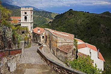 Cityscape, Savoca village, Sicily, Italy, Europe