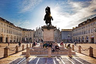 Piazza San Carlo, Turin, Italy, Europe