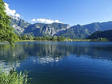 Levico Terme lake, Valsugana, Trentino, Italy, Europe