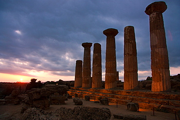 Temple of Heracles, Valley of the Temples, Agrigento, Sicily, Italy, Europe