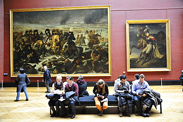 Louvre Museum, Musee du Louvre, works by Baron Antoine-Jean Gros and Theodore Gericault, Paris, France, Europe