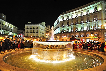 Christmas inPuerta del Sol, Madrid, Spain, Europe