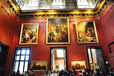 Louvre Museum, Musee du Louvre, internal view paintings, Paris, France, Europe