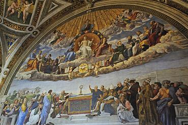 Stanze di Raffaello, Raffaello's rooms, Vatican Museums, Rome, Italy, Europe