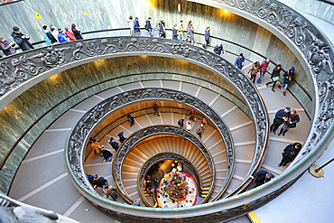 Bramante Stair design, Vatican Museums,Rome, Italy, Europe