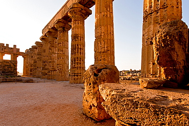 The Temple of Hera, Selinunte, archaeological site, Castelvetrano village, Sicily, Italy, Europe