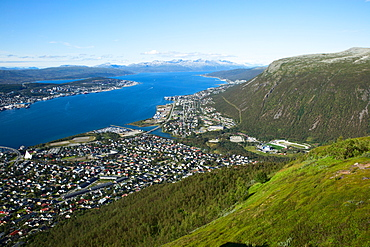 Norway, EuropeTroms0, view of the city from the Mount Storsteinen