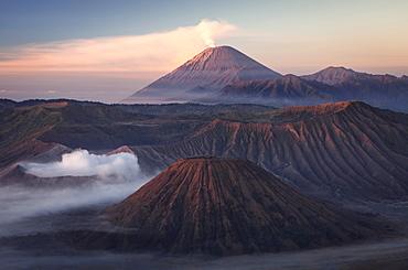 Bromo volcano at sunrise,Tengger Semeru National Park, East Java, Indonesia, Southeast Asia, Asia