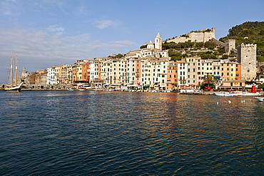 Touristic harbour, Porto Venere, Golfo dei Poeti, Ligury, Italy, Europe