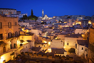 View of the Cathedral, Matera, Lucania,Basilicata, South Italy, Italy, Europe