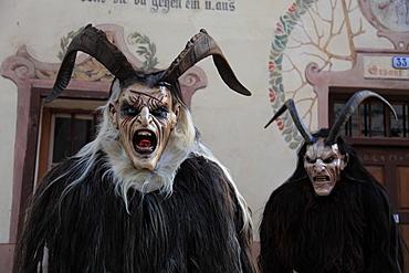 Krampus mask, Castelrotto, Trentino Alto Adige, Italy, Europe