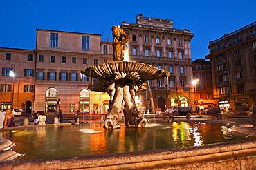 Triton Fountain, Rome, Lazio, Italy, Europe