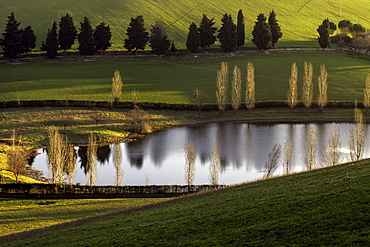 Hill of Macerata, Sunrise, Countryside, Artificial Lake, Marche, Italy, Europe