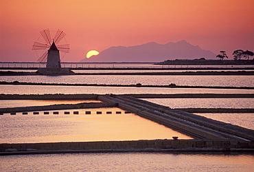 Ettore and Infersa saltworks, Mozia, Sicily, Italy