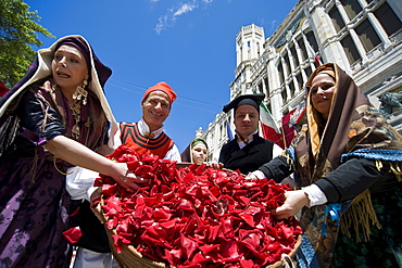 Cagliari, Ramadura, Sant'Efisio traditional event, the most important religious feast in Sardinia, Italy, Europe