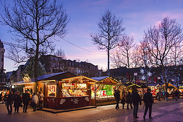 Christmas Market in Luxembourg City, Luxembourg, Europe