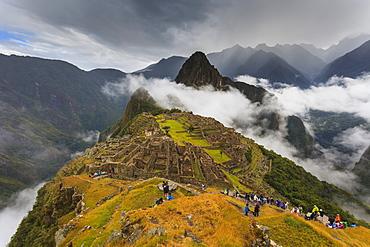 Iconic archeological site of Machu Picchu in the Cusco Region, Urubamba Province, Machupicchu District, Peru, South America