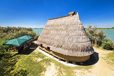 Casone, typical fisherman house, Caorle, Veneto, Italy, Europe