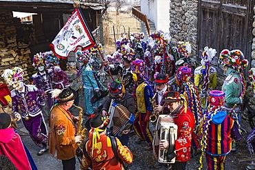 Coumba freida, alpine carnival, Gignod, Aosta valley, Italy, Europe