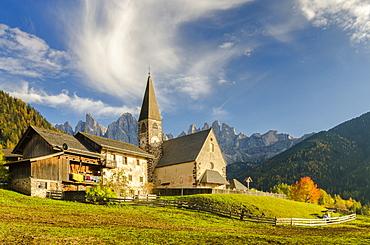 St Maddalena Church, Funes valley, Trentino-Alto Adige, Italy, Europe