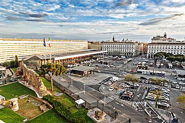 Roma Termini railway station, Piazza dei Cinquecento square, Rome, Lazio, Italy, Europe