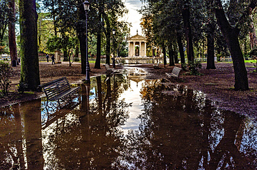 The 18th century Temple of Aesculapius, Villa Borghese gardens, Rome, Lazio, Italy, Europe