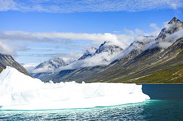 Landscape in the  Unartoq Fjord  in southern greenland. America, North America, Greenland, Denmark