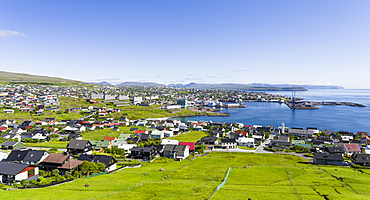 Torshavn (Thorshavn) the capital of the Faroe Islands on the island of Streymoy in the North Atlantic, Denmark, Northern Europe