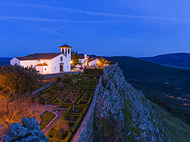 The church Santa Maria. Marvao a famous medieval mountain village and tourist attraction in the Alentejo.  Europe, Southern Europe, Portugal, Alentejo