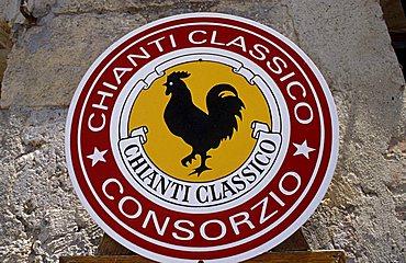Brand of Chianti, Monteriggioni, Tuscany, Italy.