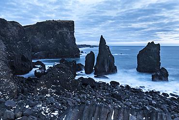 North Atllantic coast during winter near Reykjanesviti and Valahnukur. europe, northern europe, iceland,  February
