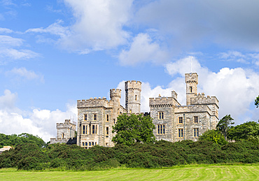 Stornoway, the largest town in the Outer Hebrides. Lews Castle and gardens, now museum and part of the Lews Castle College. Europe, Scotland, July