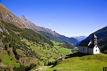 The  valley Virgental, Tyrol, seen from village Hinterbichl Europe, central europe, austria, East Tyrol