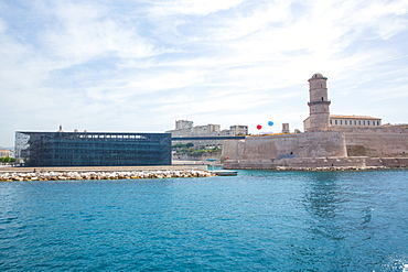 The Museum of European and Mediterranean Civilisations, at the waterfront in Marseille, Bouches-du-Rhone, Provence, France, Mediterranean, Europe