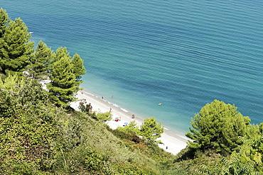 Monte Conero National Park, Seascape, View from Portonovo, Ancona, Marche, Italy, Europe