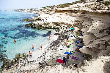 Calò d'es Morts beach, Landscape, Balearic Islands, Formentera, Spain