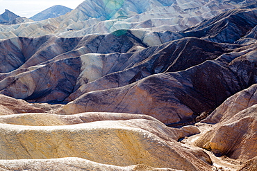 USA, California, Death Valley is a desert valley located in Eastern California. It is the lowest, driest, and hottest area in North America. Zabriskie Point.
