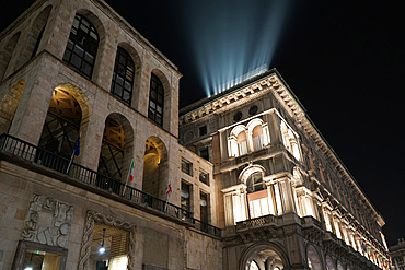 Night view of Piazza del Duomo square in winter, Milan, Lombardy, Italy, Europe