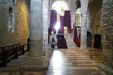 The church of San Silvestro in the central Piazza Silvestri represents a remarkable example of the Romanesque architecture of the region, Umbria, Italy, Europe