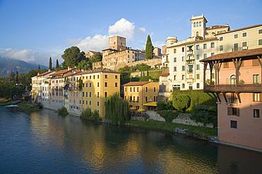 Piave River to Bassano del Grappa, Vicenza, Veneto, Italy, Europe