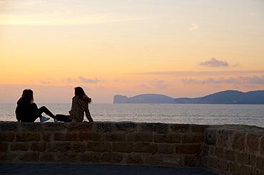 Sunset, Alghero and Capo Caccia, Sardinia, Italy, Europe